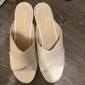 Cole Haan barely worn white heeled sandals